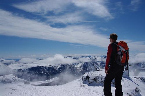 Op de top van de Galdhøpigen