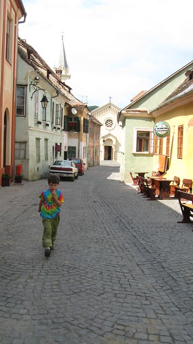 strolling through Sighisoara