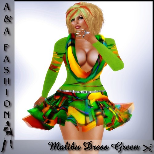 A&A Fashion Malibu Dress Green