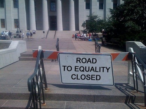 "NOMTourTracker.com: ROAD ""TO EQUALITY"" CLOSED (photoshopped)"