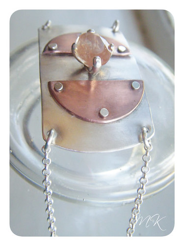 Andesine Labradorite Riveted Bracelet 5
