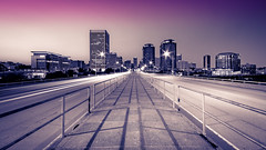 Richmond from the 9th Street Bridge (Sky Noir) Tags: street plaza city bridge sky urban skyline night manchester virginia long exposure noir reserve bank richmond clear va ninth riverfront hq scape 9th federal rva splittone meadwestvaco skynoir ричмонд