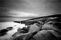 Rain is coming (hendrikus photography) Tags: sea bw nature landscape maas nd110