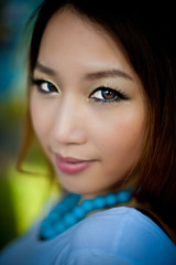 Tina Liang : Pretty asian eyes (tibchris) Tags: portrait woman cute girl asian graffiti model nikon pretty brisbane roundhouse decrepitude d700 tibchris arcticpuppy snapchris