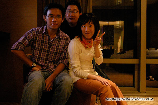 (L to R): Kok Kuan, me and Xiaoyan