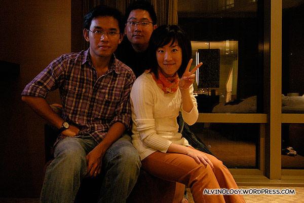 (L to R): Kok Kuan, me and Xiaoyan