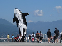 Digital Orca by Douglas Coupland (Ruth and Dave) Tags: sculpture mountains vancouver tourists orca killerwhale digitalorca