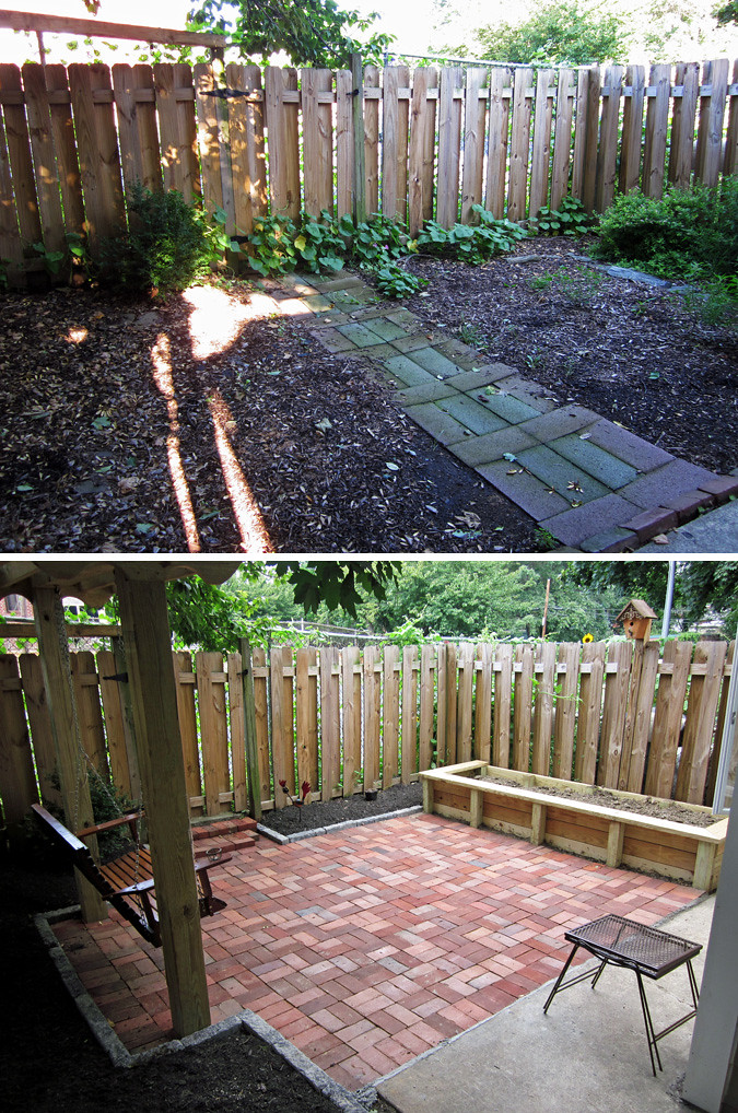 patio before & after