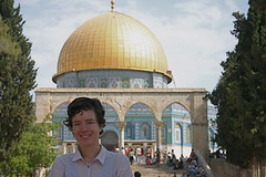 Sondy at the Dome of the Rock
