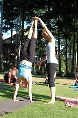 Wedding day yoga (veggy) Tags: wedding yoga jen erica handstand blitz 2010 comox