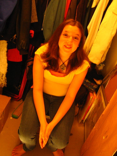 Marlee in the closet