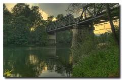 Railway bridge over Nestos River ... 7XP HDR (Emil9497 Photography & Art) Tags: railroad bridge river hellas railway greece drama soe nestos d90 riverstream nikond90 concordians mygearandme