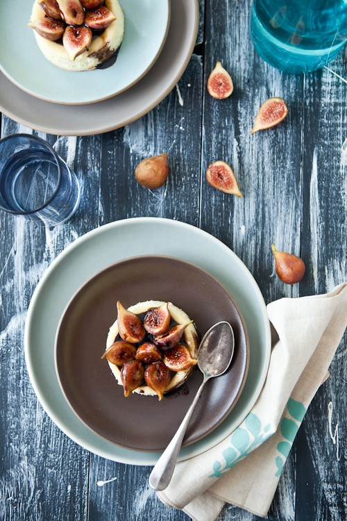 Goat Cheese Custard With Figs & Balsamic Syrup