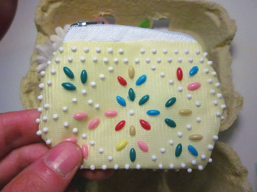 Beaded purse - reminds me of my childhood.