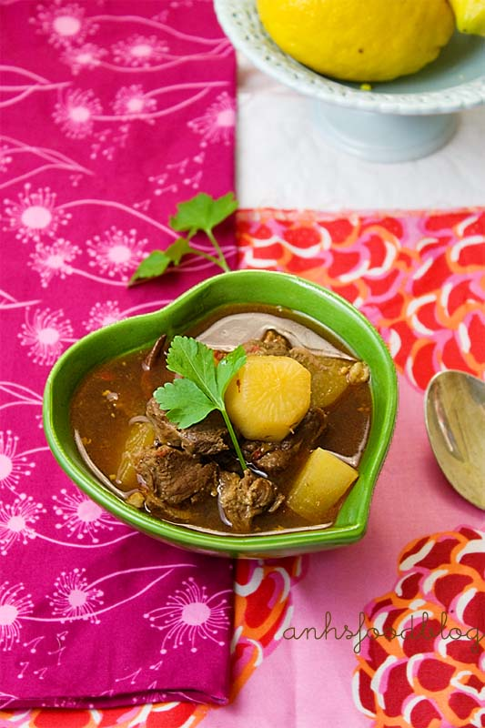 Sichuan-inspired spicy mutton stew.