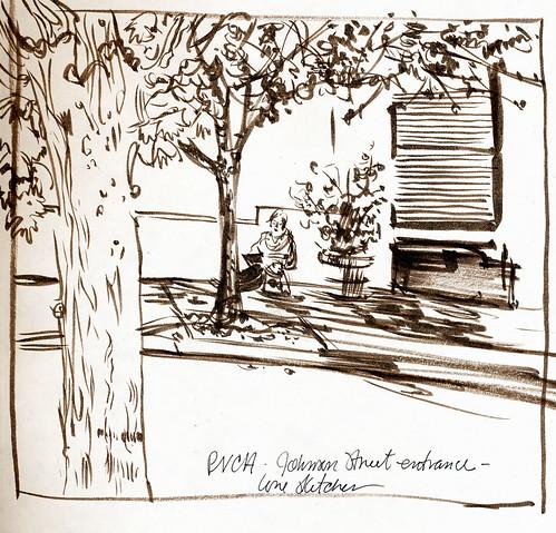Portland, PNCA building + lone sketcher
