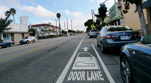 Gary Kavanagh's illustration of door zone bike lane - Door Lane!