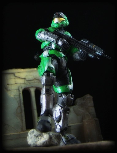 McFarlane Halo Reach - Mark V Spartan [Green/Steel] - a