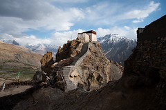 Himachal Heights (Daily Travel Photos .::. Pius Lee) Tags: travel vacation india mountain holiday building tourism beautiful asia fort traditional famous buddhism landmark daily cliffs international monastery remote himalaya foreign himalayas breathtaking watchtower gompa himachalpradesh aroundtheworld spitivalley project365 traveldestination dhankar builtstructure