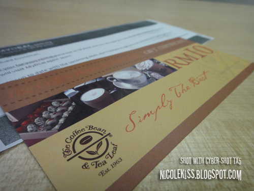 coffee beach voucher RM10
