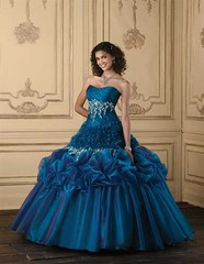 Blue Quinceanera (Sabrina Satin1) Tags: fantasy satin crossdresser effeminate quinceanera ballgown crossdressingfantasy