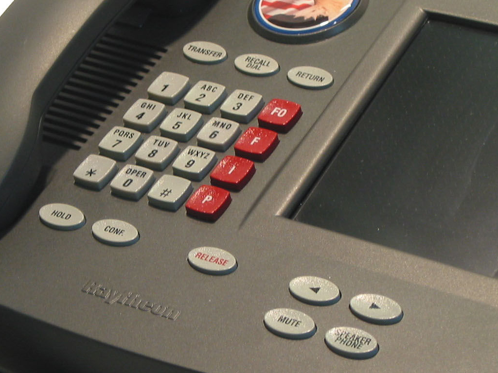 Raytheon TXP Secure Telephone – Dial Pad Closeup