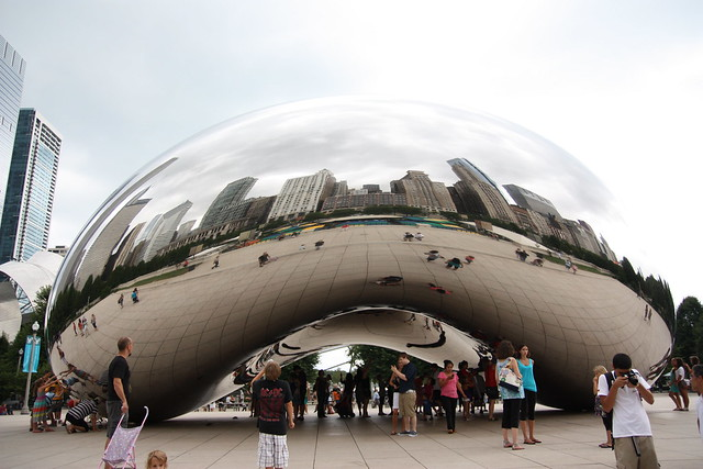 Cloud Gate Sculpture {day}