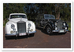 Two Grand Old Ladies-1291 (Barbara J H) Tags: cars australia qld sunshinecoast maroochydore weddingcars barbarajh rollsroycecars rollsroycve