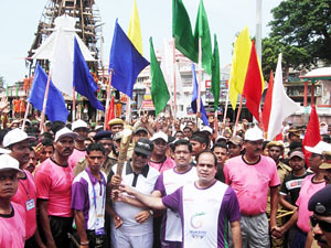 Queen's Baton Relay in Jagannath Dham Puri,Orissa