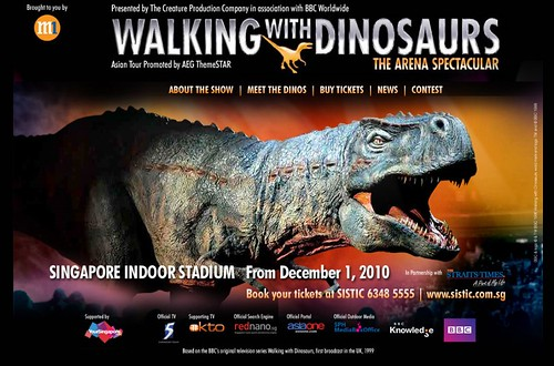 Walking with Dinosaurs Singapore Show Dec 2010