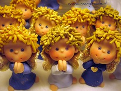 Polymer clay angels (marytempesta) Tags: wings blondes figurines angels polymerclayangels