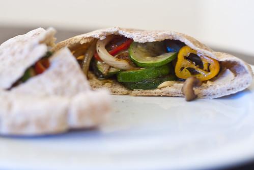 Grilled Mediterranean Veggie Pita