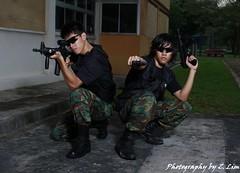 Mercenary shoot (Z. Lim Photo) Tags: model shoot photoshoot mission mp5 mercenary m4a1