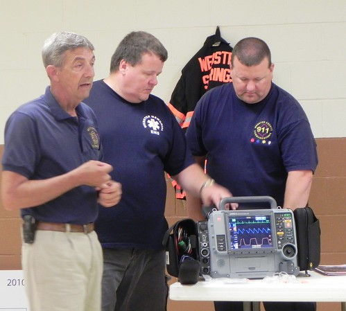 Don McCourt, Larry Clevenger and Richard Rose, Emergency Services Director, provided a demonstration of the equipment purchased with funds provided through USDA