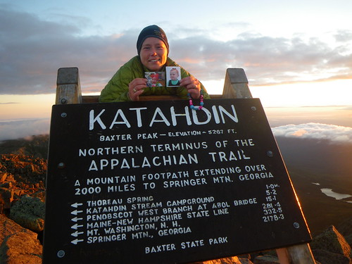 Misti and her Nieces @ Katahdin Summit