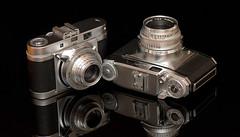 Agilux Agimatic & Braun Colorette (senor bombel) Tags: camera film vintage agilux agimatic braun colorette 35mm bombelinski bombel