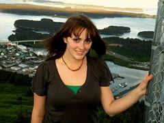 Heather ( island girl ) Tags: blue trees friends summer portrait sky sun green water alaska clouds island nikon emerald kodiak 2010