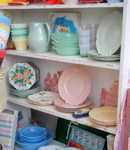 Pretty shelves @ Vintage at Goodwood