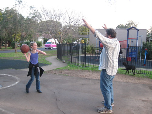 Basketball with dad