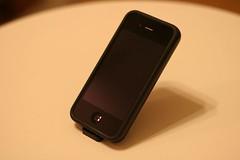 IMG_ホール付ミニミニスタンド for iPhone4 ブラック