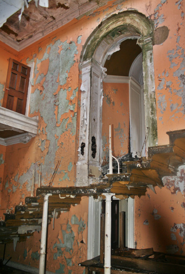 Whats left of the staircase