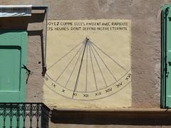 Cadran solaire à Versols (Aveyron), 7 août 2010