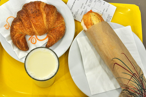 Breakfast at Girona Train Station
