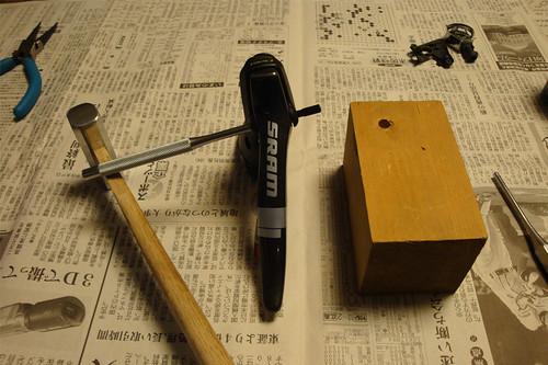 Sram Doubletap lever dismantle 09
