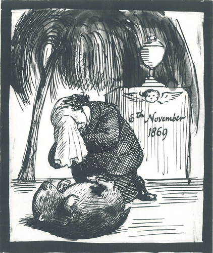 Rossetti, wombat sketch
