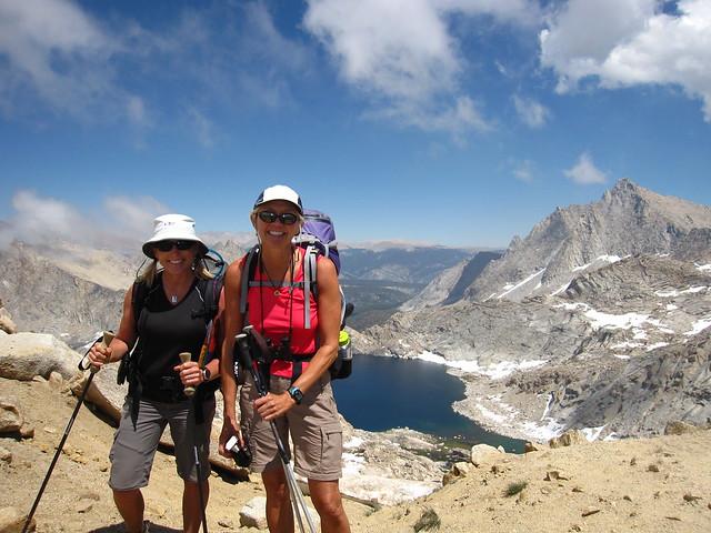 Rockin and Arrow at top of Sawtooth Pass