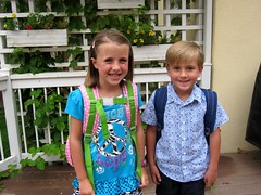 Abbie and Jack, entering 1st and 2nd grade