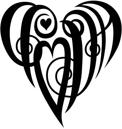 heart tattoo with initials. quot;CPODAquot; Heart Design