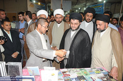 زيارة السيد جعفر الحكيم الى جناح العتبة الحسينية المقدسة