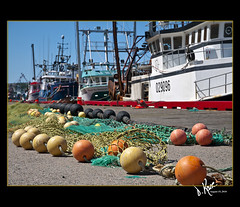 On the South Side (Dana Kane) Tags: newfoundland boats stjohns fishinggear